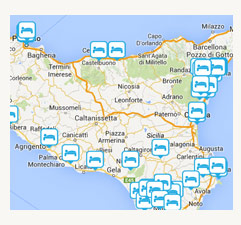 Search For Hotels Using The Map Of Sicily